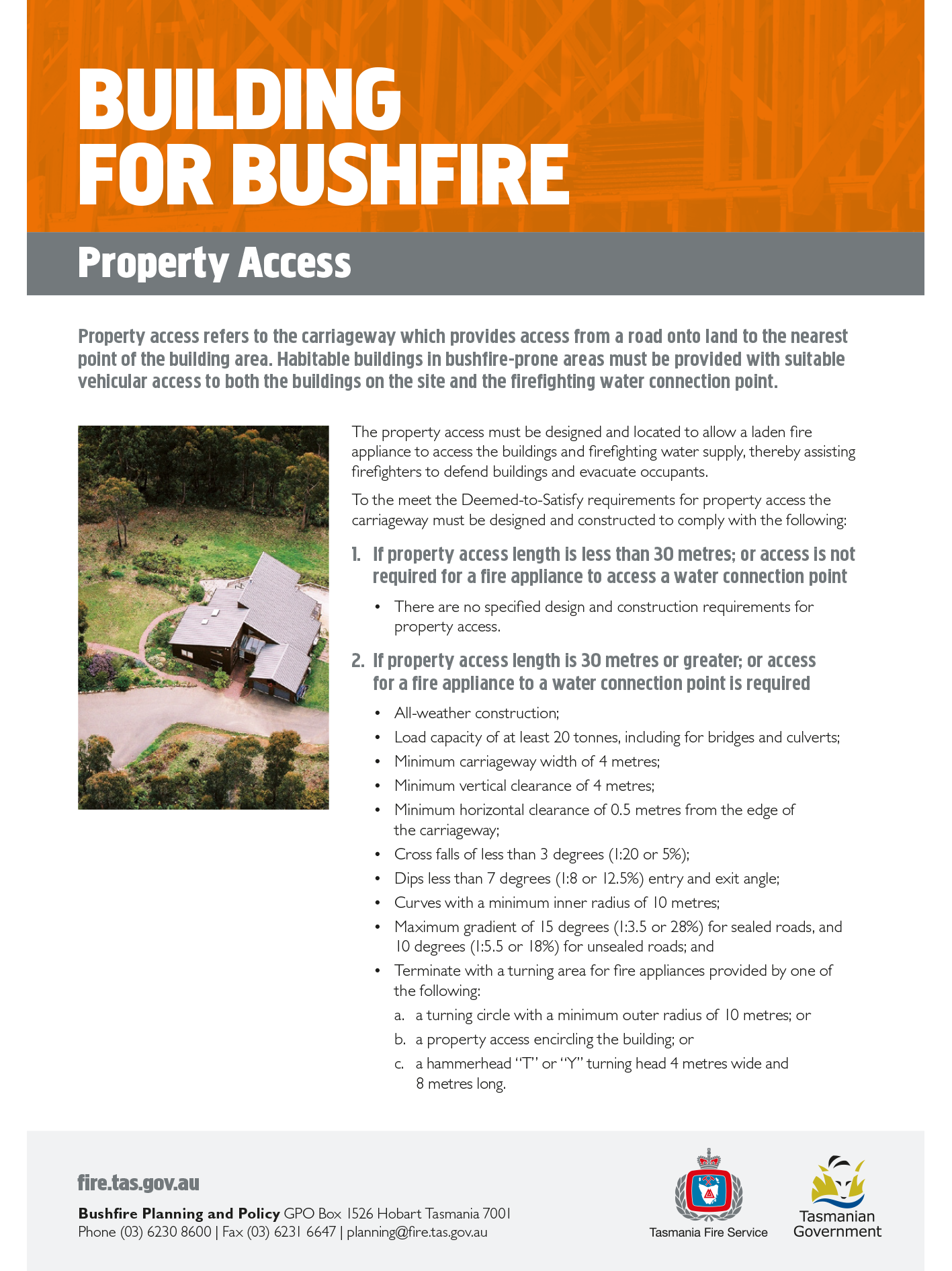 Building for Bushfire Property Access