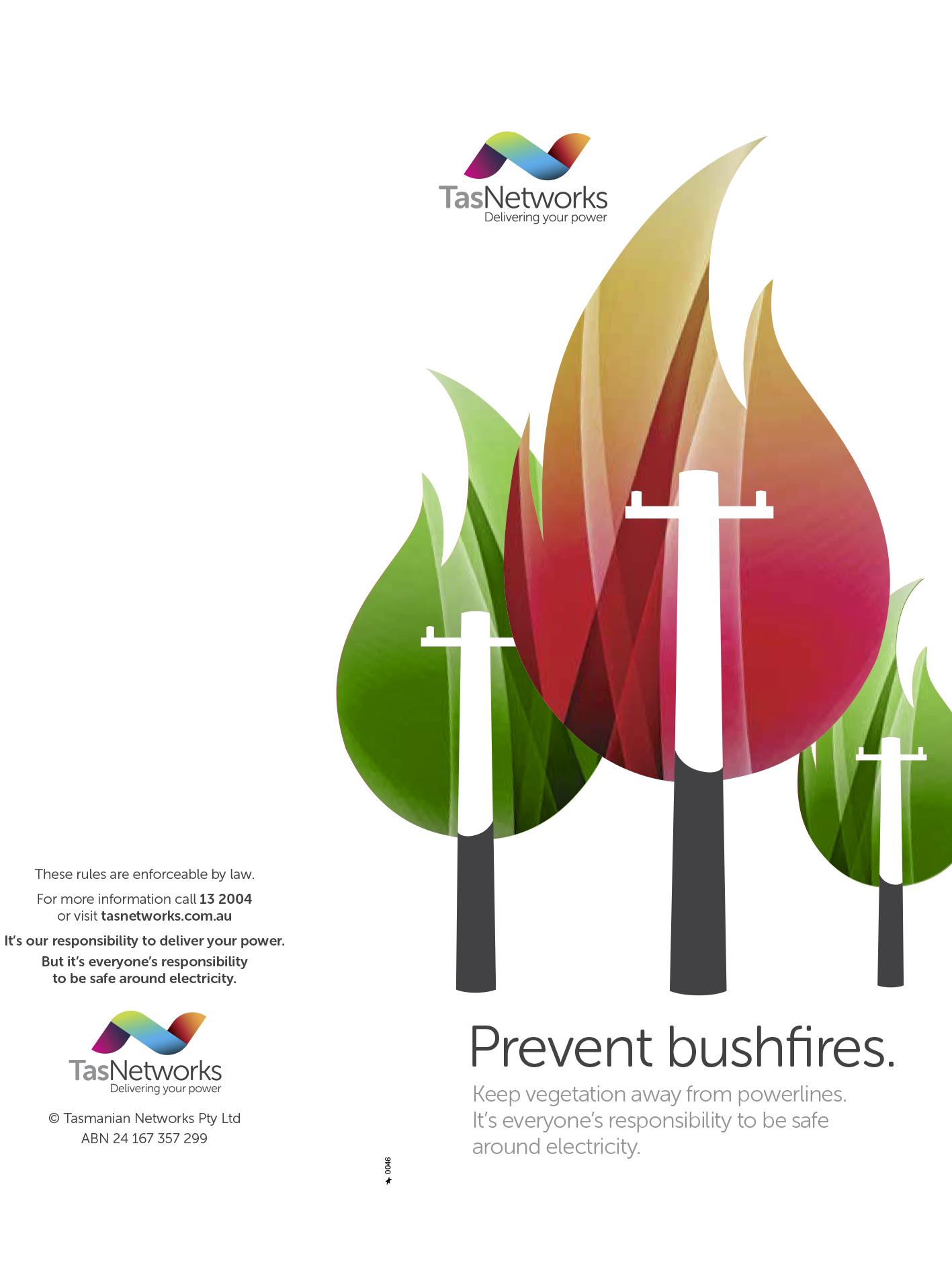TasNetworks Prevent Bushfires Brochure