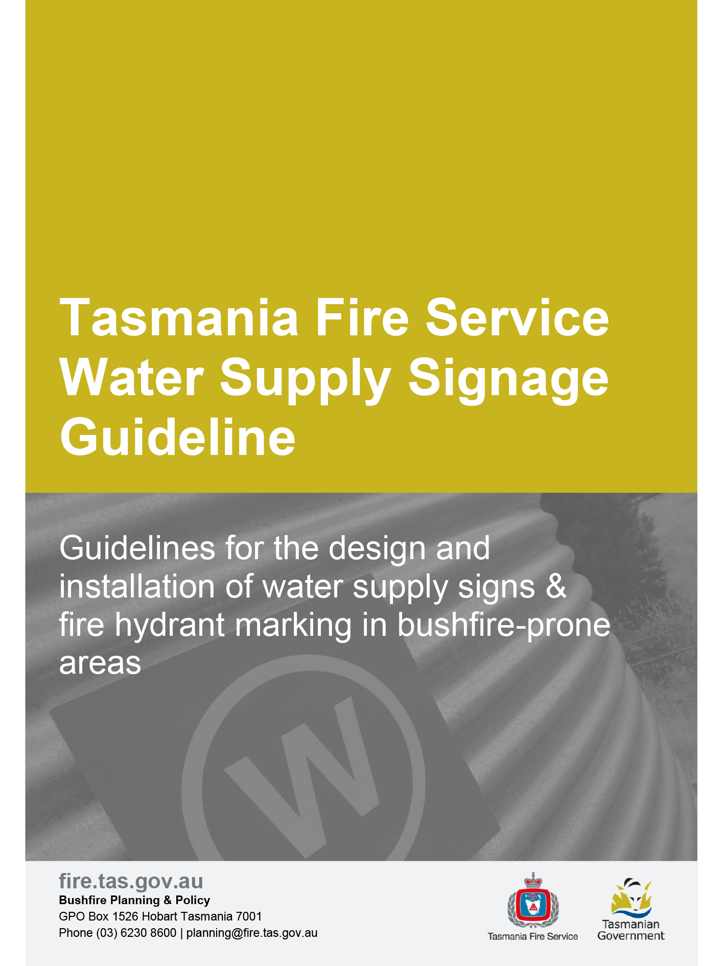 TFS Water Signage guideline